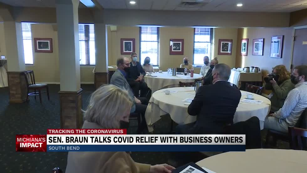Indiana U.S. Senator Mike Braun visits local restaurant owners