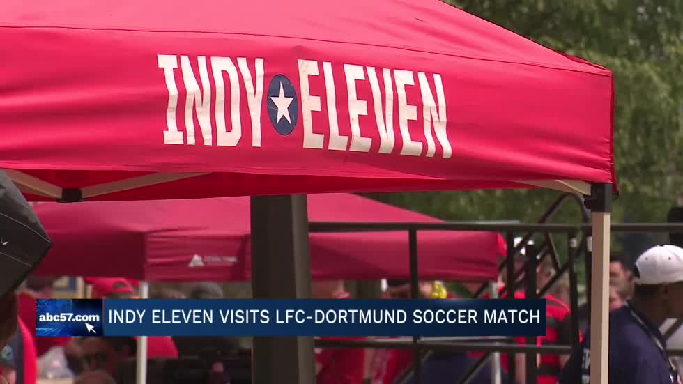 Indy Eleven visits Liverpool vs. Dortmund game at ND