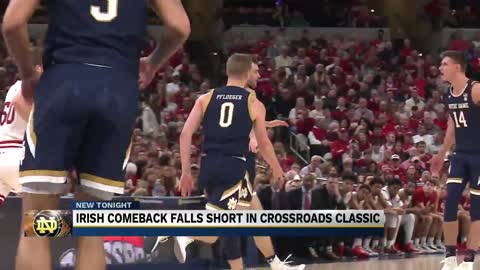 Irish erase deficit before falling to IU in Crossroads Classic