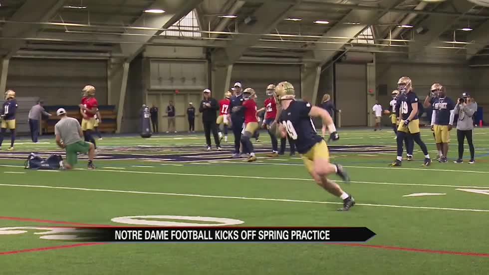 Notre Dame football tabs three captains as spring practice opens