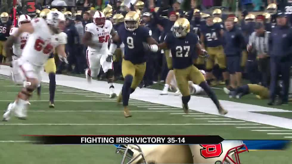 Irish extend winning streak by taking down NC State
