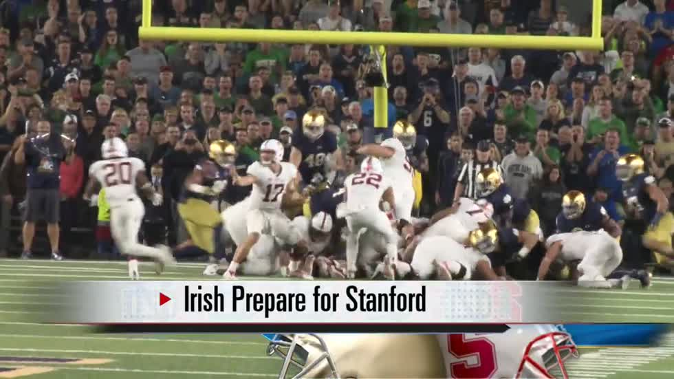 Irish prepare for road test at Stanford to end regular season