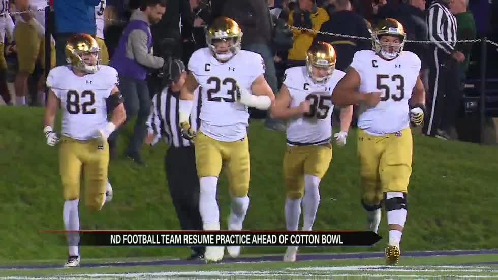 Irish resume practice ahead of College Football Playoffs