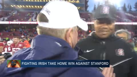 Irish clinch 10th win against Stanford in regular season finale
