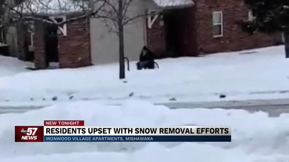 Ironwood Village residents upset with snow removal efforts
