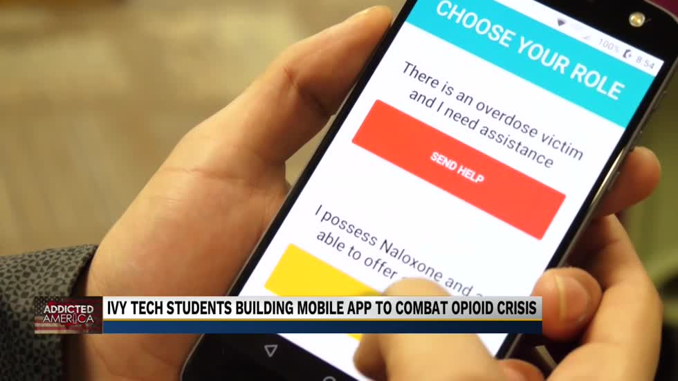 Ivy Tech students building mobile app to combat opioid crisis
