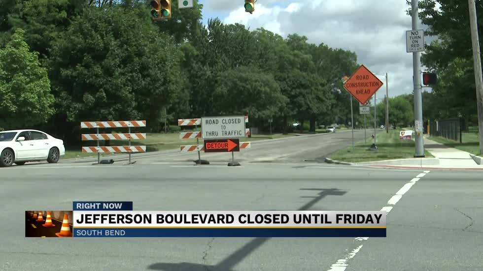 jefferson boulevard in south bend closed down for resurfacing 1565141676 ABC57 980x551 jpg?1565141725.