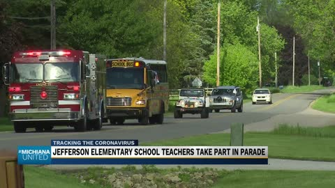 Jefferson Elementary School holds end of the year parade