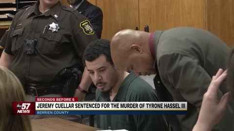 Jeremy Cuellar sentenced for the murder of Tyrone Hassel III...