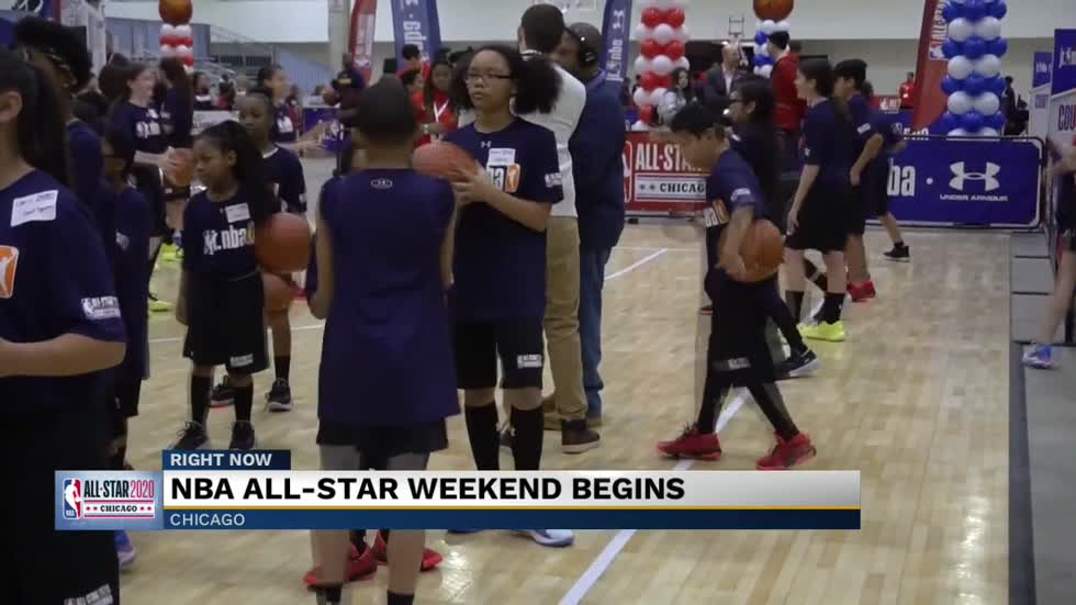 Jr NBA at the NBA All Star weekend