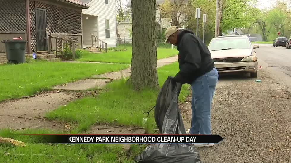 Kennedy Park residents work to clean neighborhood