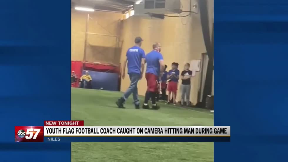 Kids' flag football coach caught punching man on camera