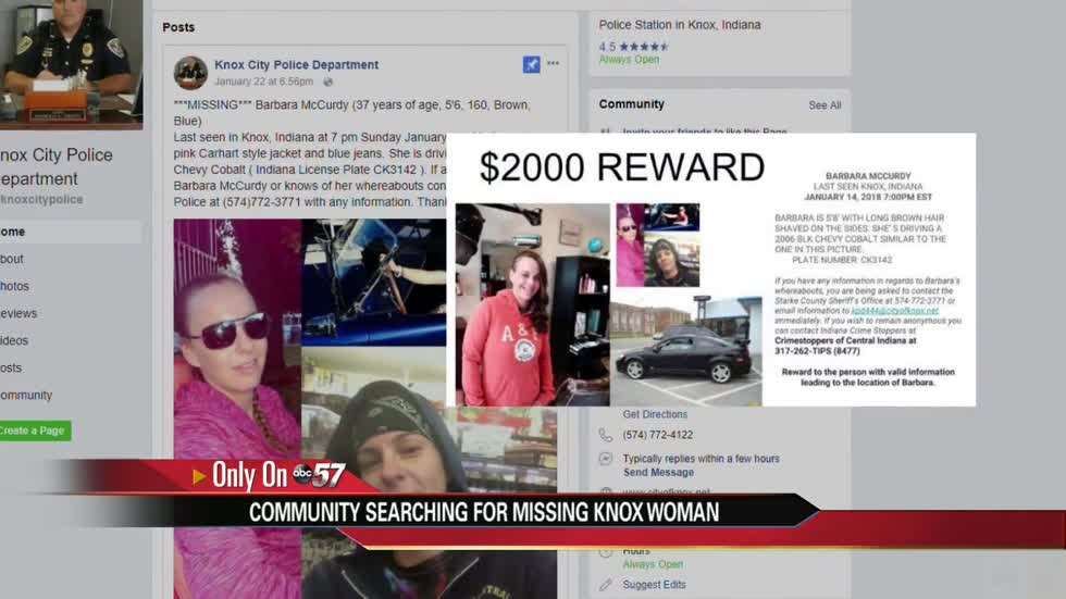 Knox community searching for missing woman