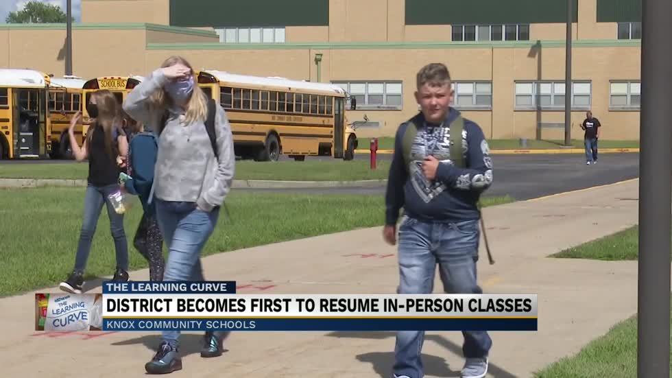 Knox students return to school for the first time since March