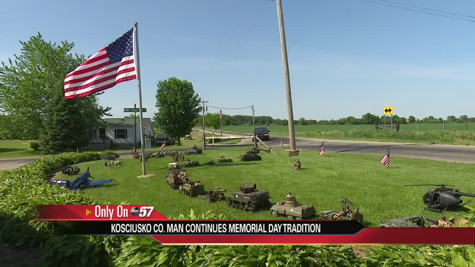Kosciusko Co. man transforms front yard into unique Memorial Day tribute