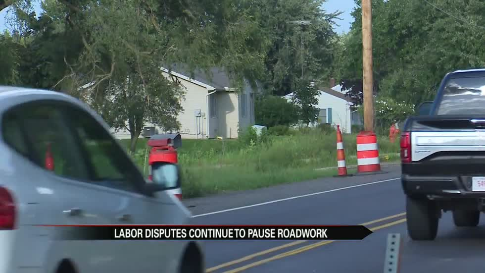 Labor dispute continues to pause roadwork in Michigan