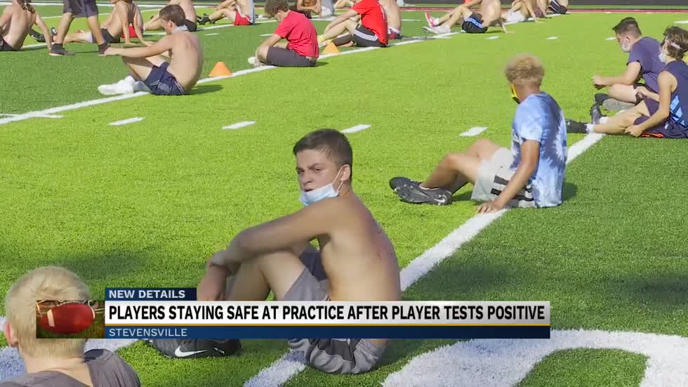 Lakeshore High School football team working with strict safety measures