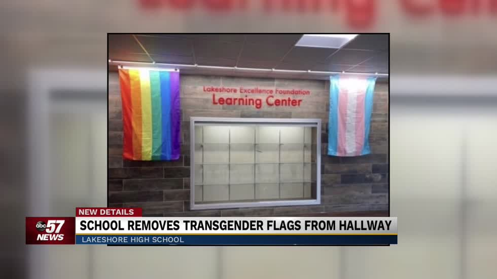 Lakeshore High School removes LGBTQ+ flags from hallway