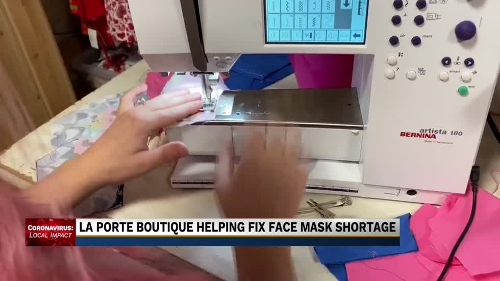 La Porte boutique sews face masks to help local first responders