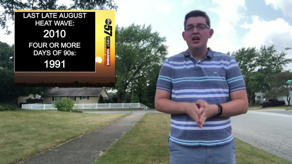 Late August heat wave history