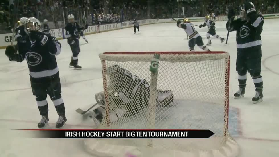 Last-minute goal sends Notre Dame hockey to Big Ten Championship
