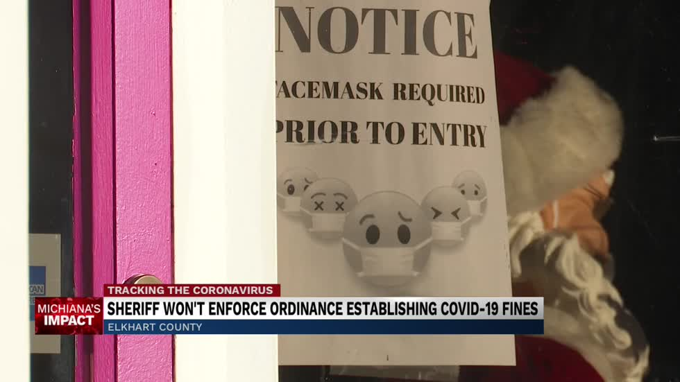 Law enforcement not expected to help enforce Elkhart mask ordinance