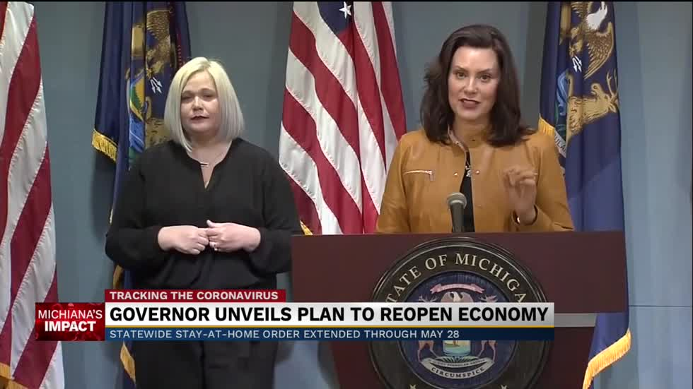 Gov. Whitmer extends Michigan's stay at home order to May 28