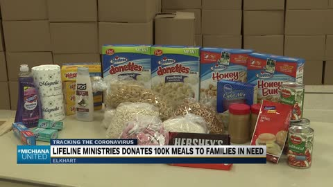 Lifeline Youth Ministries distributes 1,000 boxes of food to local families