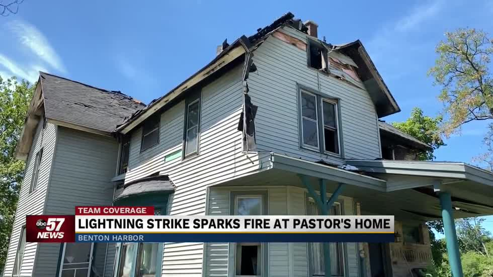 Lightning strike sparks fire destroying pastor's home