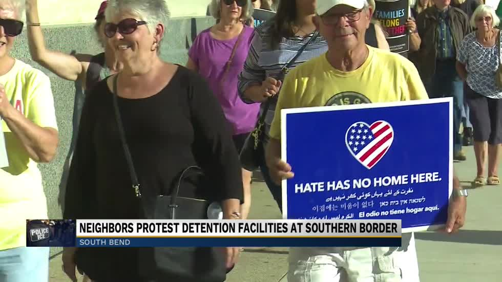 Lights for Liberty detention camp protest held in South Bend Friday
