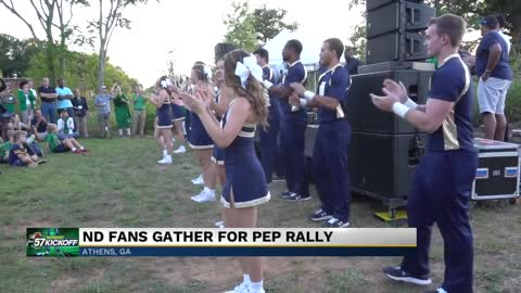 Live at the Notre Dame pep rally in Atlanta