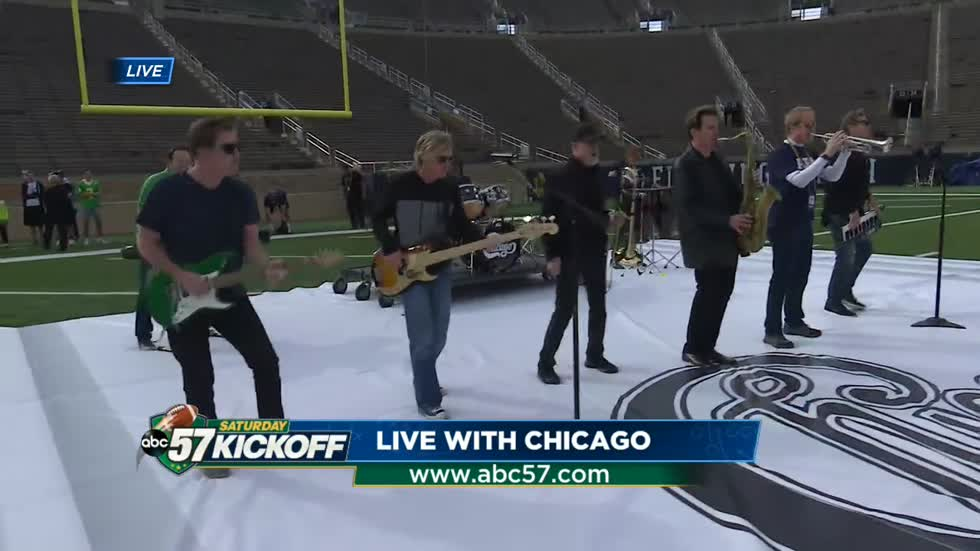 Chicago performs on ABC57 Saturday Kickoff