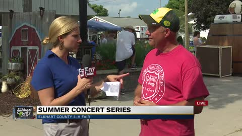Elkhart Fair President-elect Trent Hostetler discusses this year's concert series