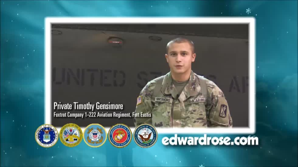 Military Greetings 2016: Private Timothy Gensimore