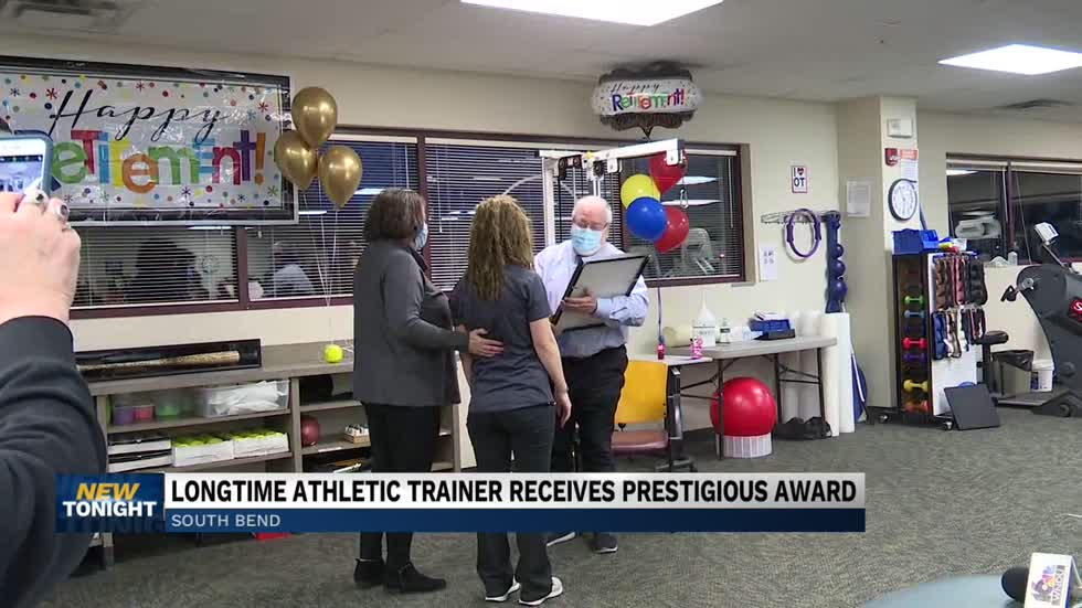 Local athletic trainer receives Indiana's highest honor