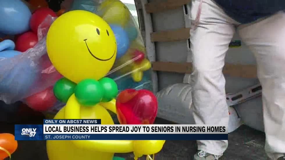Local business spreads joy to residents in nursing home