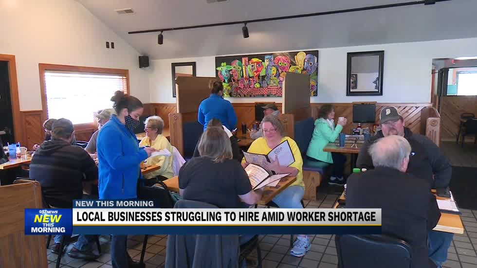 Local businesses offering hiring incentives due to a worker shortage