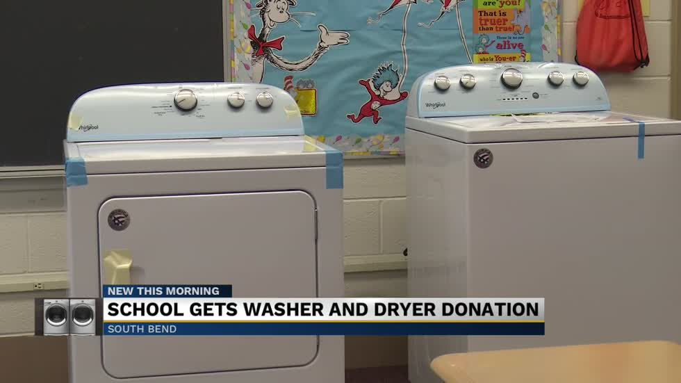 Local church donates washer and dryer to Coquillard Elementary School
