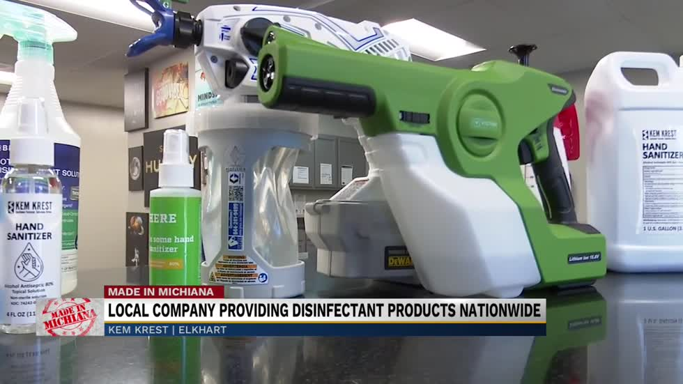 Local company providing disinfectant products nationwide