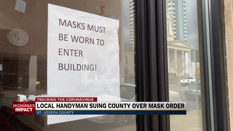 Local handyman suing county over mask order