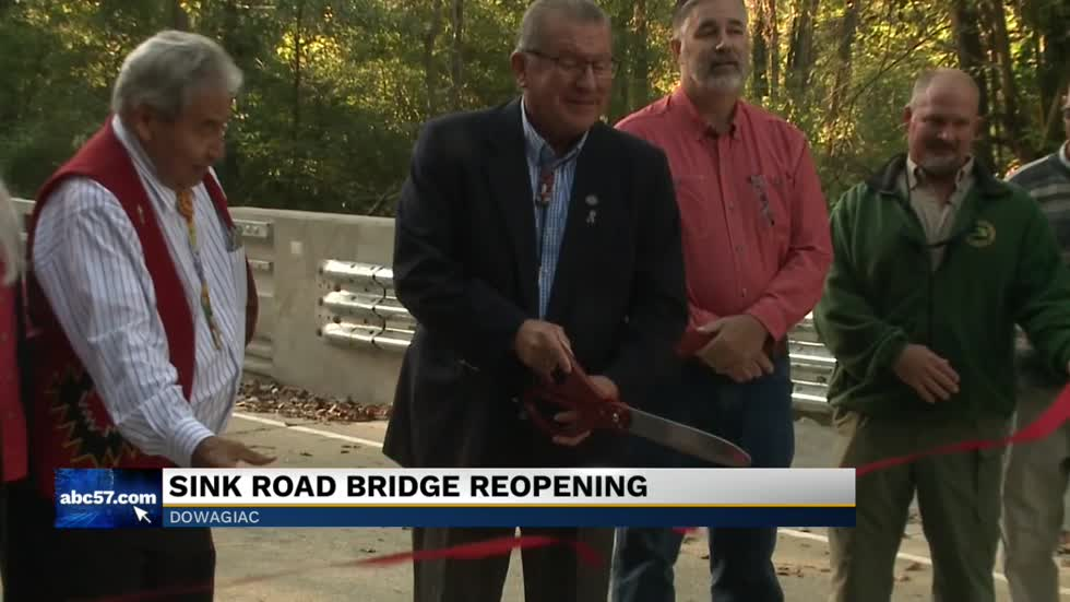 Local leaders in Pokagon Township celebrate new bridge opening