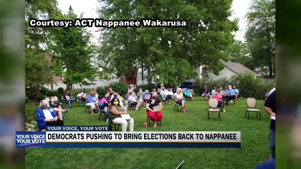 Local Democrats push for Municipal elections to return to Nappanee