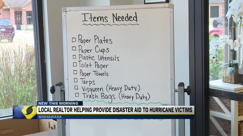 Local realtor helping provide disaster aid to hurricane victims...