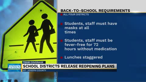 Local school districts announce reopening plans