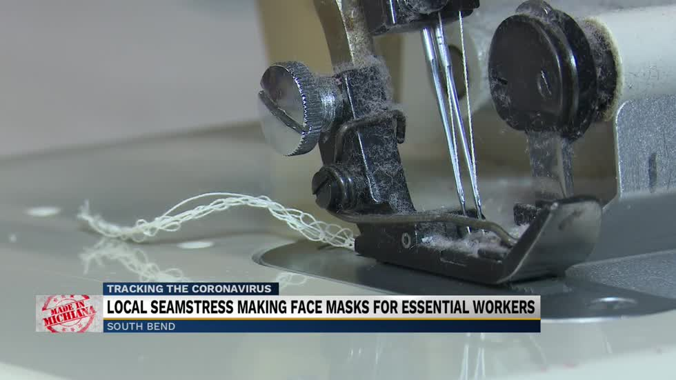 Made in Michiana: Local seamstress making face masks for essential workers