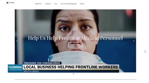 Local start-up pivots to help frontline workers