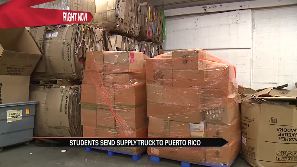 Local students help send supplies to Puerto Rico
