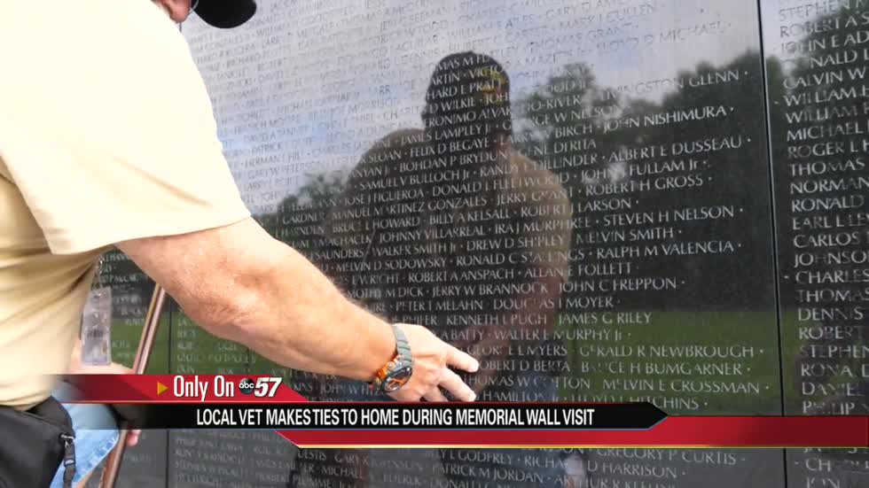 Vietnam vet honors familiar name on wall