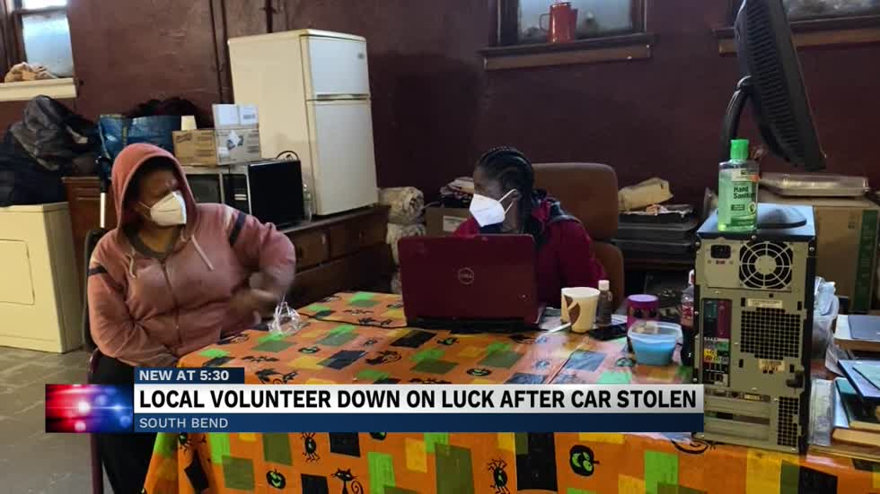 Local volunteer keeping high hopes after car stolen