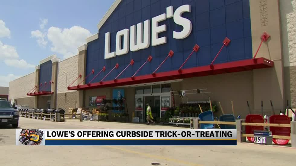 Lowe's offering drive-thru trick-or-treating for families